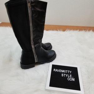 Torrid Exposed Zipper Tall Black Boots Size 9
